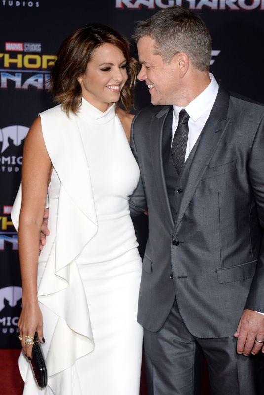 LUCIANA BARROSO and Matt Damon at Thor: Ragnarok Premiere in Los Angeles 10/10/2017