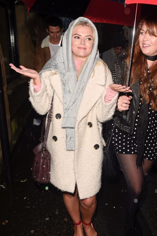 LUCY FALLON Leaves Smokehouse Cellar Bar and Restaurant in Manchester 10/21/2017