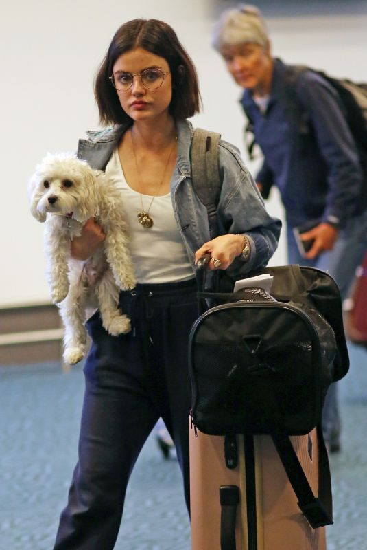 LUCY HALE at Vancouver Airport 10/09/2017