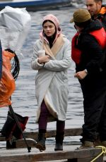 LUCY HALE on the Set of Life Sentence in Burnaby 10/11/2017