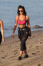 LUCY MECKLENBURGH in Tights Out at a Beach in Marbella 10/11/2017