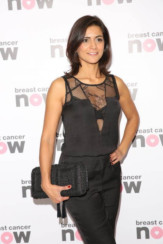 LUCY VERASAMY at Breast Cancer Now Pink Ribbon Ball in London 10/14/2017
