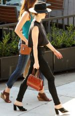 LYDIA HEARST Out for Lunch with Friends in Los Angeles 10/08/2017