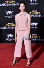 MACKENZIE FOY at Thor: Ragnarok Premiere in Los Angeles 10/10/2017