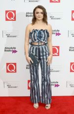 MAISIE WILLIAMS at Q Awards in London 10/18/2017