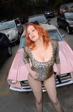 MAITLAND WARD in Kitty Halloween Costume in Los Angeles 10/15/2017