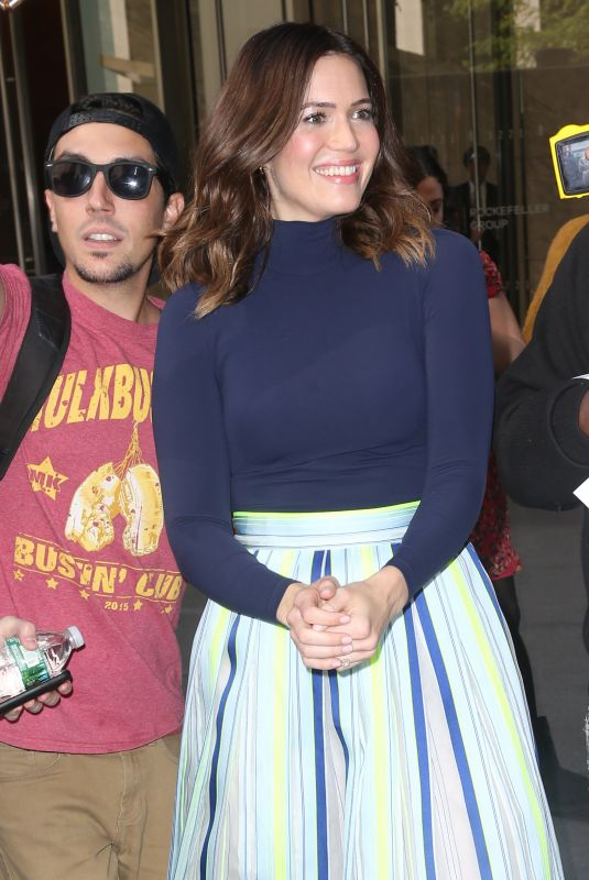 MANDY MOORE Leaves SiriusXM Studios in New York 10/10/2017