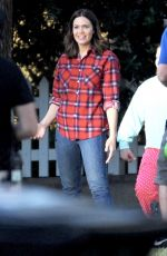 MANDY MOORE on the Set of This is Us in Eagle Rock 10/23/2017