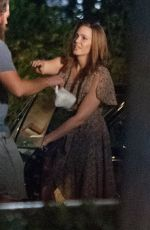 MANDY MOORE on the Set of This is Us in Los Angeles 08/10/2017