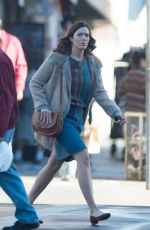 MANDY MOORE on the Set of This is Us in Los Angeles 10/24/2017