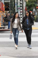 MARA TEIGEN and BRITTNY GASTINEAU Out Shopping in Beverly Hills 10/30/2017