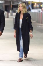 MARGOT ROBBIE Arrives at JFK Airport in New York 10/12/2017