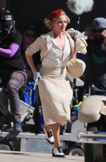 MARGOT ROBBIE on the Set of Dreamland in New Mexico 10/24/2017