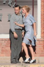 MARGOT ROBBIE on the Set of Dreamland in New Mexico 10/26/2017