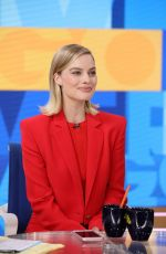 MARGOT ROBBIE on the Set of Good Morning America 10/11/2017
