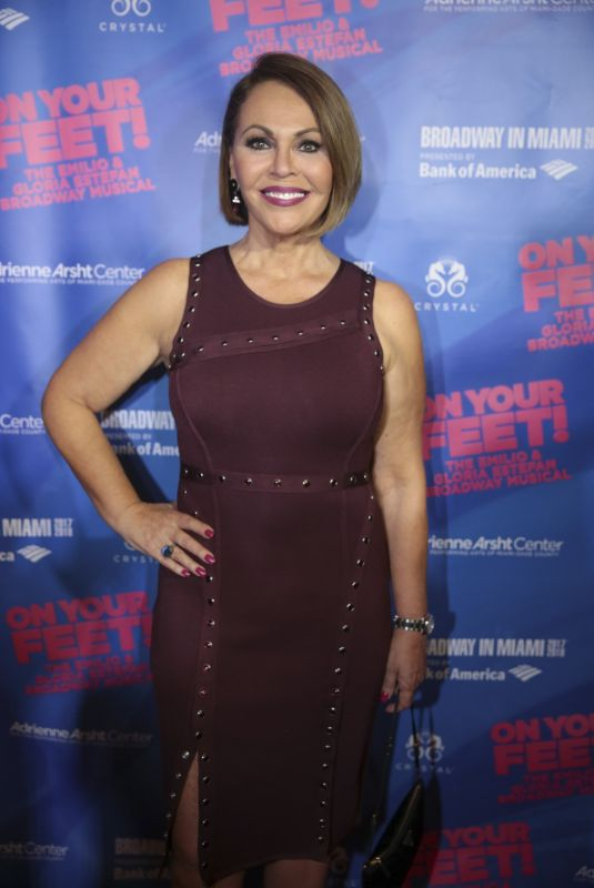 MARIA ELENA SALINAS at On Your Feet Broadway Musical in Miami 10/06/2017