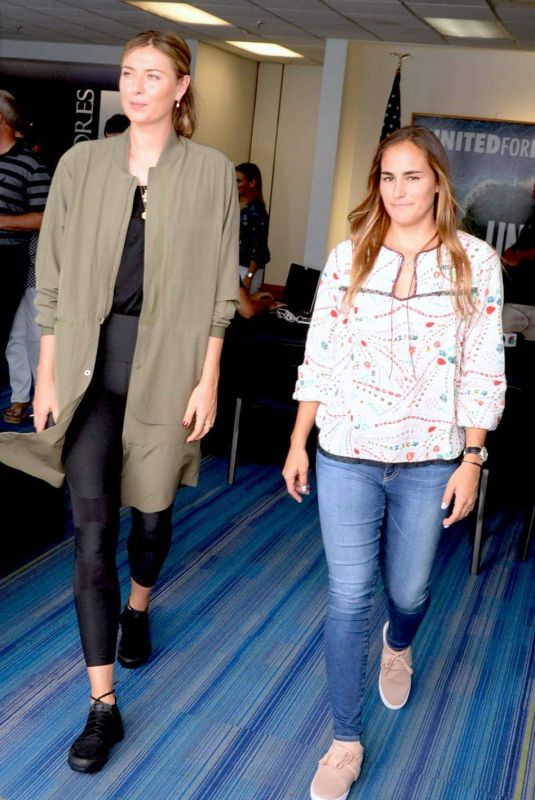 MARIA SHARAPOVA and MONICA OUIG at Charity Event in Puerto Rico 10/23/2017