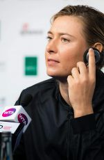 MARIA SHARAPOVA at China Open 2017 Press Conference in Beijing 09/30/2017