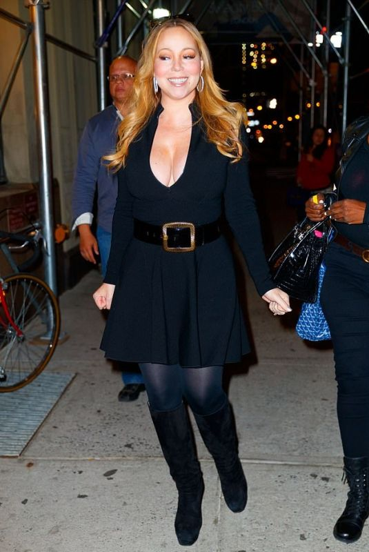 MARIAH CAREY Night Out in New York 10/20/2017