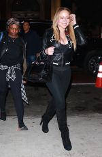 MARIAH CAREY Out for Sushi in New York 10/18/2017