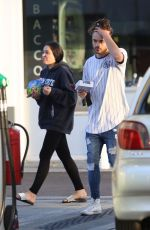 MARNIE SIMPSON and Casey Johnson at a Gas Station in London 10/15/2017
