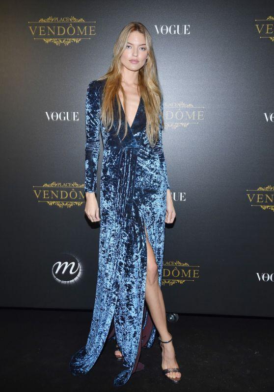 MARTHA HUNT at Vogue Party at Paris Fashion Week 10/01/2017