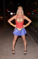 MARY CAREY as Wonder Woman at a Pre-Halloween Party in Universal City 10/19/2017