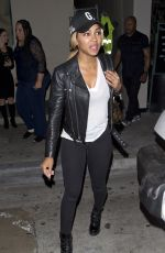MEAGAN GOOD Leaves Catch LA in West Hollywood 10/16/2017