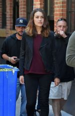 MEGAN BOONE on the Set of The Blacklist in New York 10/03/2017