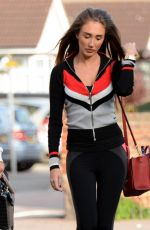 MEGAN MCKENNA and CHLOE MEADOWS Heading to Yoga Class in Essex 10/12/2017