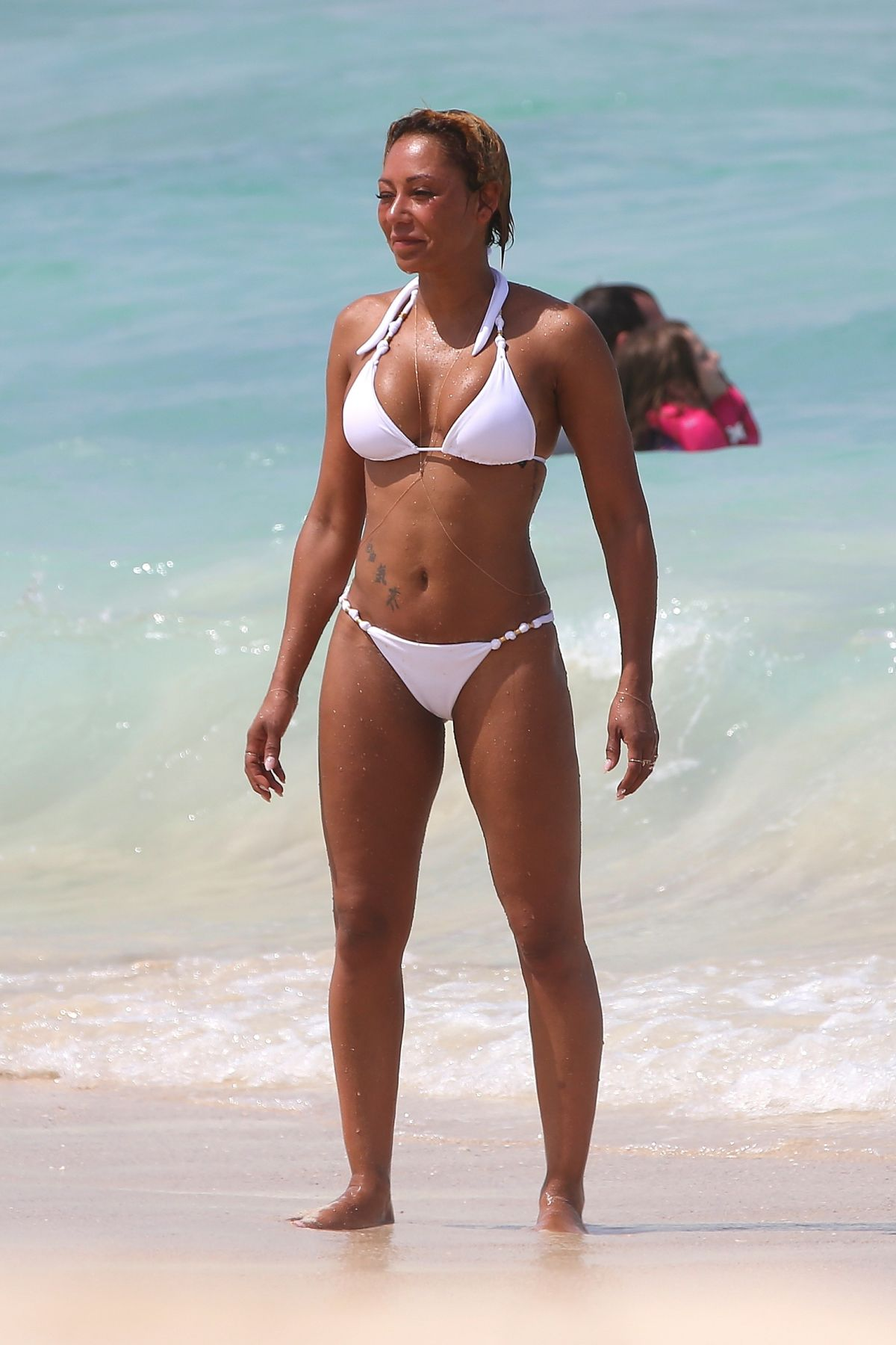 Melanie brown in a white bikini hawaii