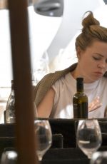 MELISSA GEORGE Out for Lunch at Pierluigi