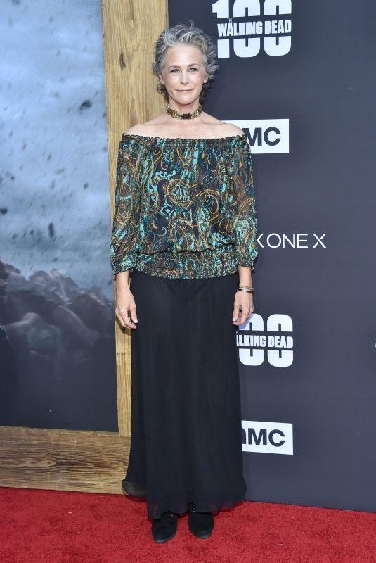 MELISSA MCBRIDE at The Walking Dead, Season 8 Premiere in Los Angeles 10/22/2017