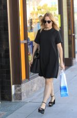MENA SUVARI Out Shopping in Beverly Hills 10/26/2017