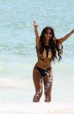 METISHA SCHAEFER in Bikini on the Set of a Photoshoot at Miami Beach 10/16/2017