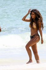METISHA SCHAEFER in Bikini on the Set of a Photoshoot at Miami Beach 10/16/2017