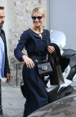 MICHELLE HUNZIKER and AURORA RAMAZZOTTI Out for Lunch in Milan 10/27/2017