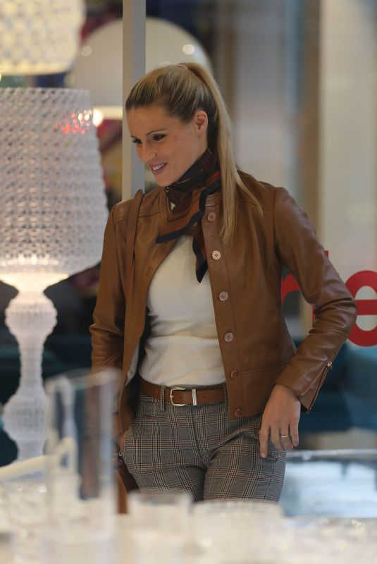 MICHELLE HUNZIKER at Kartell Store in Milan 10/03/2017