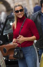 MICHELLE HUNZIKER Out and About in Milan 10/04/2017
