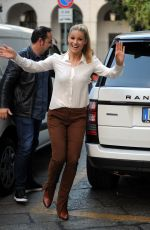 MICHELLE HUNZIKER Out and About in Milan 10/10/2017