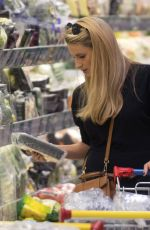 MICHELLE HUNZIKER Shopping at Supermarket in Milan 10/24/2017