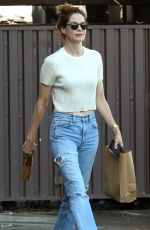 MICHELLE MONAGHAN Out Shopping in Hollywood 10/18/2017
