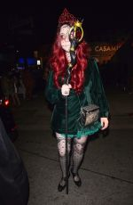 MICHELLE TRACHTENBERG Leaves Tequila Casamigos Halloween Bash in Los Angeles 10/27/2017