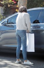 MILA KUNIS in Jeanso Out Shopping in Beverly Hills 10/10/2017