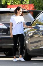 MILA KUNIS Out and About in Los Angeles 10/02/2017