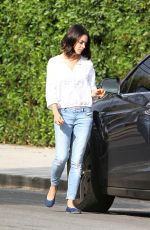 MILA KUNIS Out and About in Los Angeles 10/20/2017