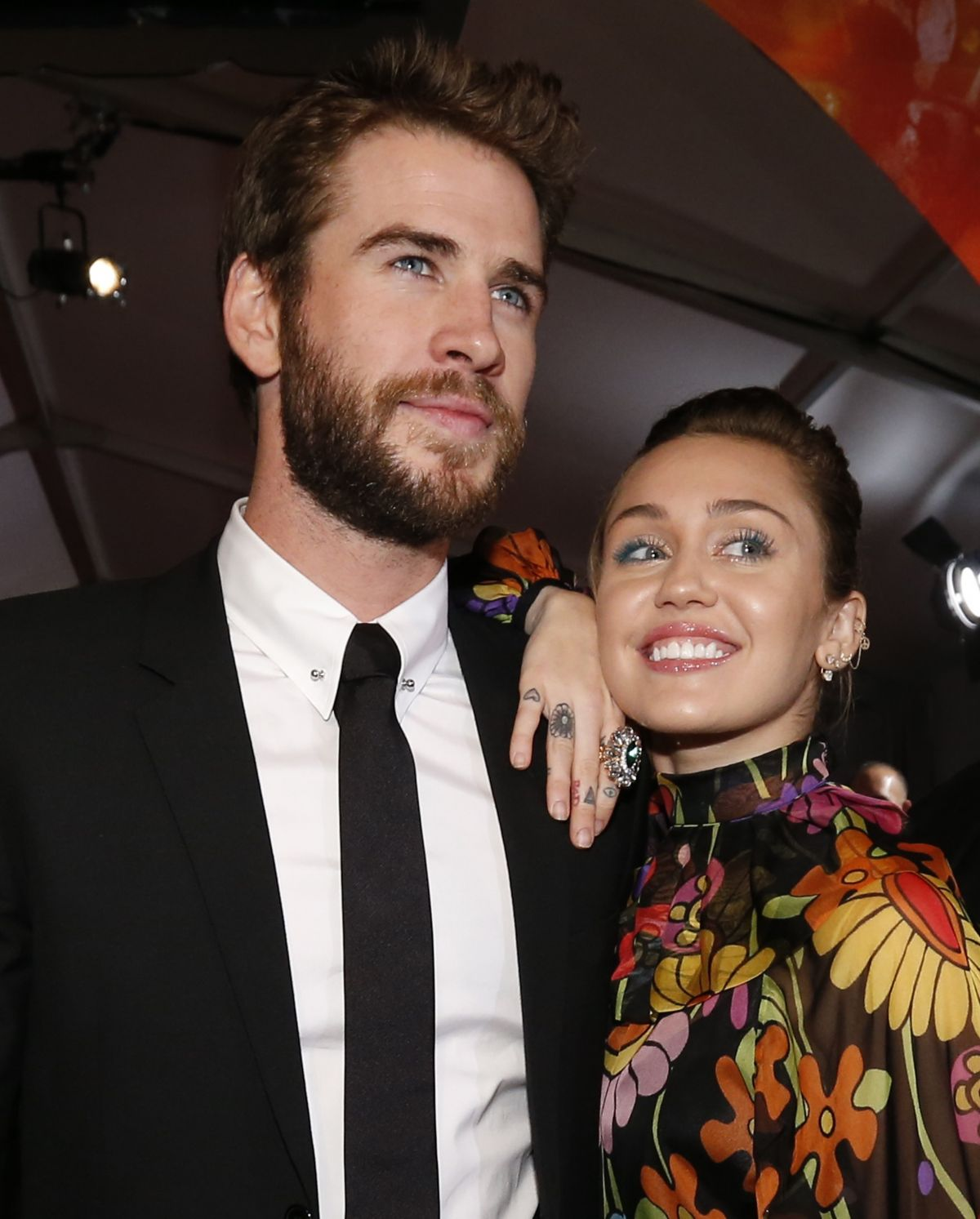 MILEY CYRUS and Liam Hemsworth at Thor: Ragnarok Premiere ...