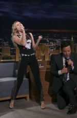 MILEY CYRUS at Tonight Show Starring Jimmy Fallon in New York 10/02/2017