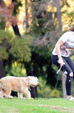 MINKA KELLY at a Dog Park in West Hollywood 10/11/2017