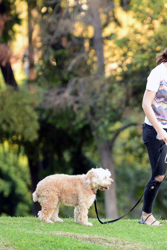 MINKA KELLY at a Dog Park in West Hollywood 10/11/2017